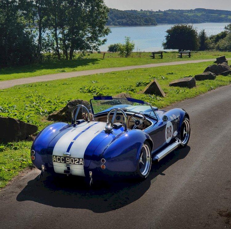AdamC  YouTuber shows his Personal  car of - Dax Tojeiro - AC Cobra replica